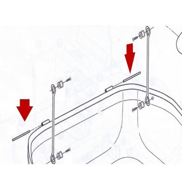 GIVI Πύρος Μεντεσέ Z635R για Βαλίτσες E470/E30/E350 ΒΑΛΙΤΣΕΣ / ΒΑΣΕΙΣ / TANKBAG