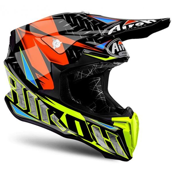 Airoh Κράνος Twist Iron Πορτοκαλί Gloss Moto Cross