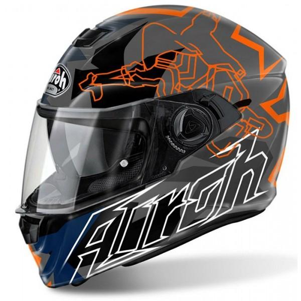 Airoh Κράνος Storm Bionicle Πορτοκαλί ΚΡΑΝΗ