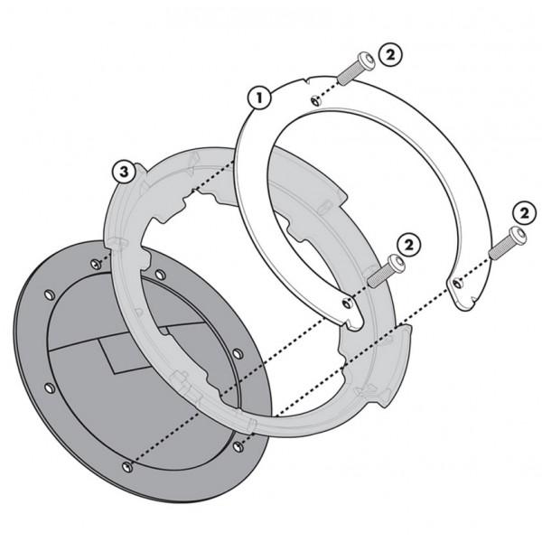 Givi  Σύστημα κλειδώματος σάκου στο ρεζερβουάρ BF03 ΒΑΛΙΤΣΕΣ / ΒΑΣΕΙΣ / TANKBAG