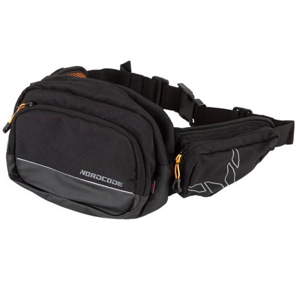 Nordcode Μπανάνα Μέσης Front Bag Μαύρη ΤΣΑΝΤΕΣ / ΣΑΚΙΔΙΑ